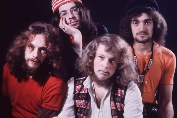 circa 1970:  British folk group Jethro Tull, led by flautist, guitarist, singer and songwriter Ian Anderson.  (Photo by Hulton Archive/Getty Images)