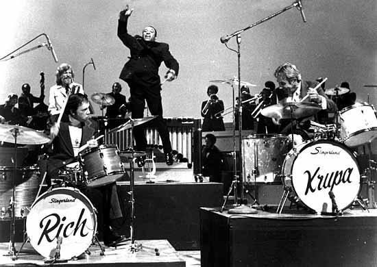 Buddy Rich e Gene Krupa